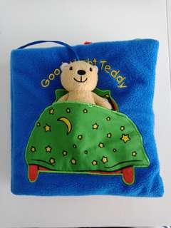 Baby Cloth Book Good Night Teddy by Francesca Ferri