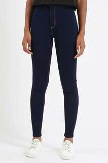 Topshop petite joni clean indigo jeans