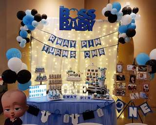 Birthday Decoration & Dessert Table ( Boss Baby Theme)