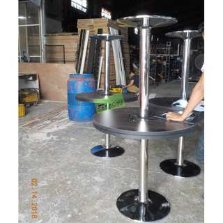 CT-80D ROUND MEETING TABLE CHROME LEGS--KHOMI