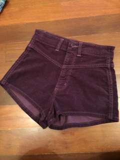 Wrangler cheeky high waist shorts