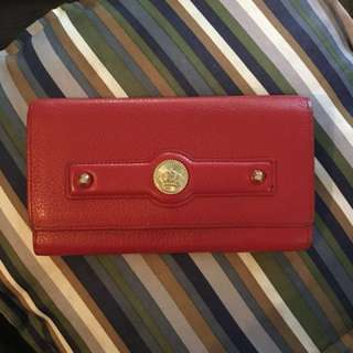 Authentic Juicy Couture Red Leather Wallet Like new