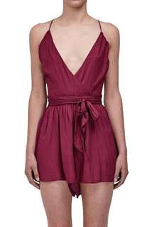 BEC & BRIDGE Desert March Playsuit Deep Red