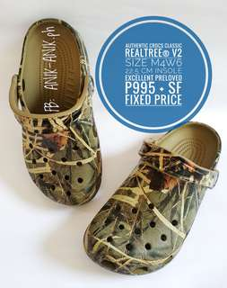 Authentic Crocs Realtree V2 Excellent Preloved