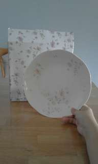 "9"" Flowery Porcelain Soup Plate"