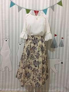 Plus size two-pieces dress (pendant necklace not for sale)