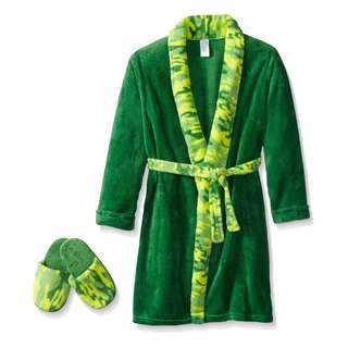 (NEW) Too Cool 2 Sleep Baby Plush Robe with Slippers, 3T, Boys