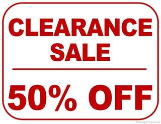 Everything at 50% off!