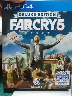 Farcry 5 deluxe edition unused code PS4