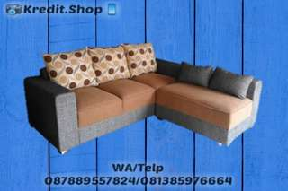 Sofa L Putus Cicilan Tanpa Kartu Kredit Cash/Kredit