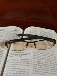 Tagheuer Brown Trans Lense Eyeglasses