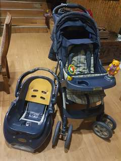Stroller and Car Seat plus Baby Walker and Playset