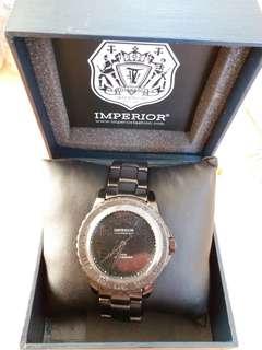 全新日本黑鋼手錶 連盒及自改錶帶器一套