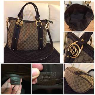 BEAUTIFUL AUTHENTIC GUCCI TOTE AND CROSSBODY BAG