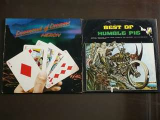 HUMBLE PIE ● HERON . best of / diamond of dreams. ( 2 items for the price of 1 )   vinyl record
