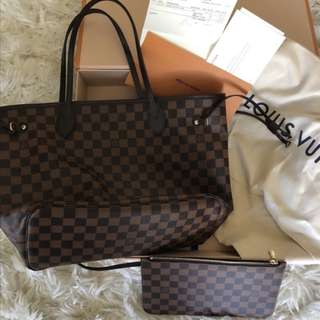 Louis Vuitton Neverfull MM includes pouch