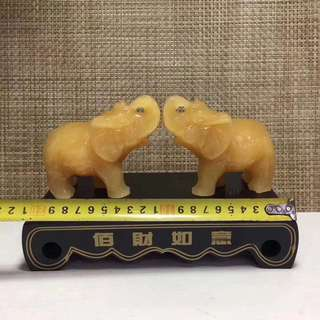 The essential artifact of the home, natural rice yellow jade absorbs the elephant.