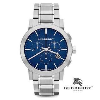 Burberry 男裝計時鋼帶腕錶