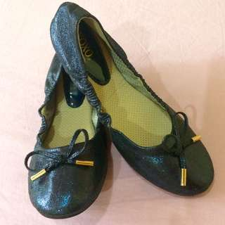 XOXO Blue Ballet Flats