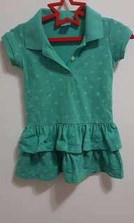 Crib Couture Green Polo Dress