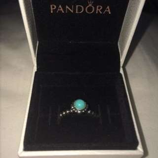 Pandora Ring for December birthstone