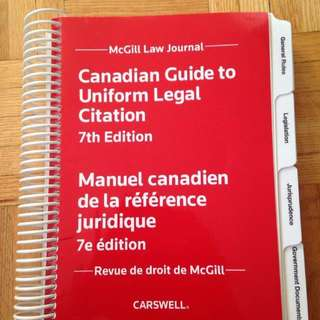 Carswell/Canadian Guide to Uniform Legal Citation 7th edn