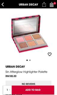 Sin Afterglow Highlighter Palette