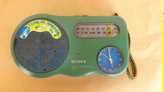 Vintages Sony Radio Cassette Clock Player
