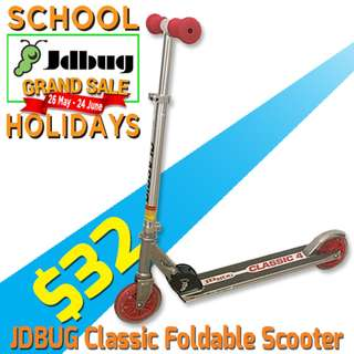 $32 Foldable Kick Scooter JDBUG MS305 - SCHOOL HOLIDAYS SPECIAL