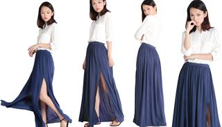 BN Wild Slit Maxi Skirt (Cobalt) M