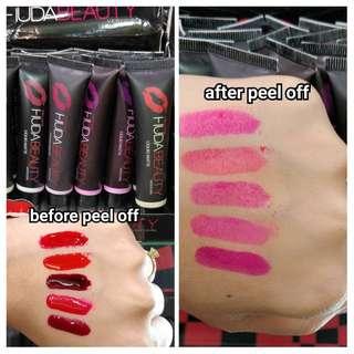 Huda peel off lipstick