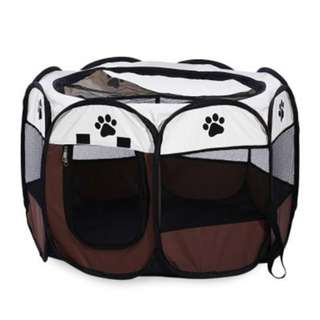 Foldable Portable 46Cm Pet Dog Cat Playpen Exercise Kennel Oxford Cloth
