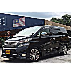 TOYOTA VELLFIRE 2.4 ( A ) VVT-I !! Z PLATINIUM GOLD EYE !! TYPE GOLD !! PREMIUM HIGH SPECS !! ( BXX 100 ) 1 CAREFUL OWNER !!