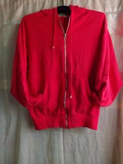 Pure red jacket