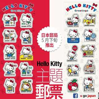 日本限定 sanrio Hello Kitty 郵票