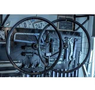 PIZZ Velocity Pursuit Track Wheelset - Black