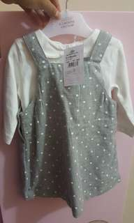 Brand new with tag pinafore newborn with legging