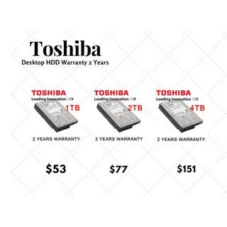 Toshiba Desktop 3.5Inch Harddisk