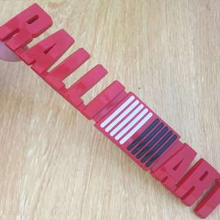 RALLIART Red 3D Emblem Logo Badge Plastic For Mitsubishi Cars