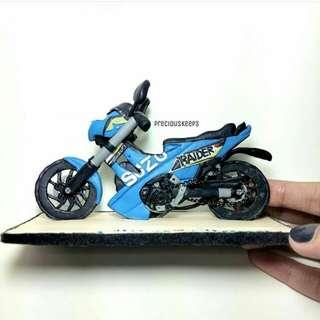 """4"""" (wide)  3D motorcycle display"""