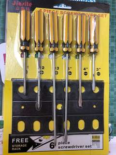 Screw drivers set of 6 pieces