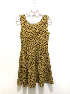 mustard | printed | dress
