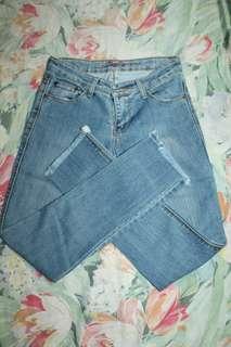 Ripped Bottom Jean
