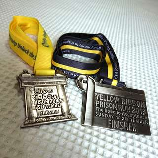 BNIP 2012 & 2013 Yellow Ribbon Project Run Finisher Medal