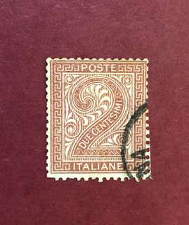 1865年 意大利郵票 #25_A7_2c, used