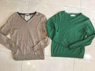 Zara 大童V領棉質紳士罩衫(適合140cm)