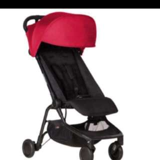 Used but still look very New Nano travel Stroller - comes with all weather cover set & food tray
