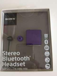 SONY藍芽耳機SBH20