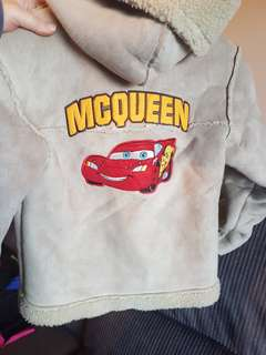 Lightning mcqueen Cars jacket size 8