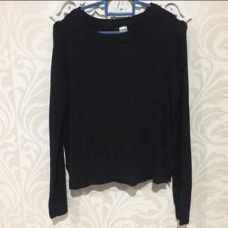H&M Black Sweater Top